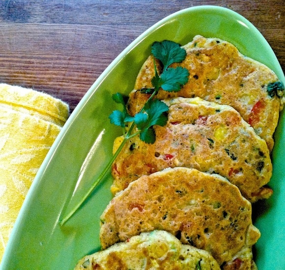 Zucchini Corn Fritters from Helyn's Healthy Kitchen.