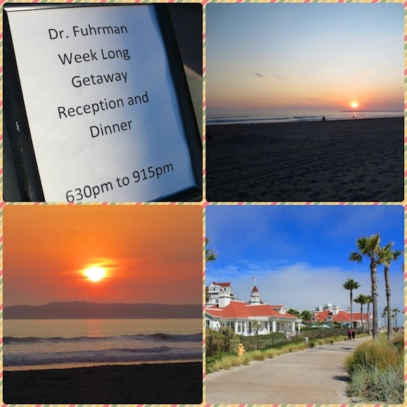 Collage from Dr. Fuhrman's Getaway in San Diego.