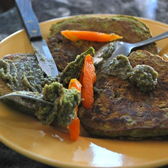 4 Fresh Fall Lunch Alternatives including Savory Kale Pancakes from Eat Well. Party Hard.
