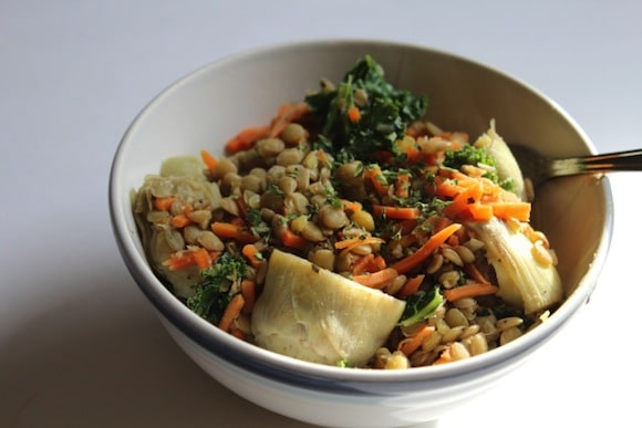 Artichoke Basil Lentils from Strength and Sunshine