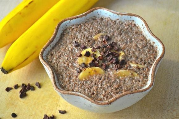 Chocolate Banana Chia Pudding from Gluten-Free Cat