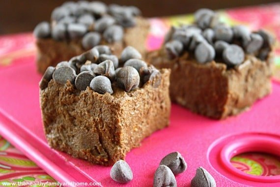 Healthy Chocolate Mint Fudge from The Healthy Family and Home