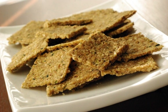 Raw Walnut Zucchini Crackers from The Taste Space