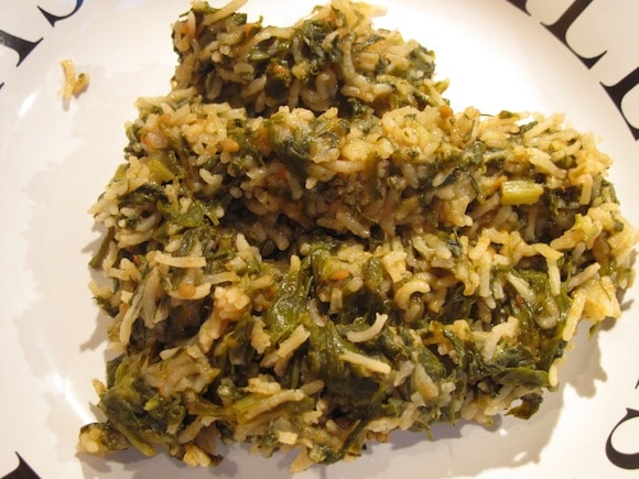 Spanakoritso - Greek Spinach with Rice from The Fussiest Eater