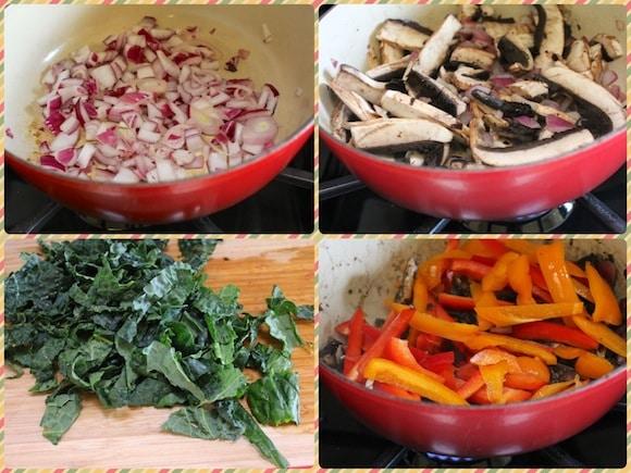 Quinoa Kale Saute steps