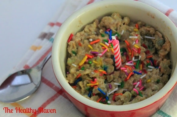 Birthday Cake Oatmeal from The Healthy Maven
