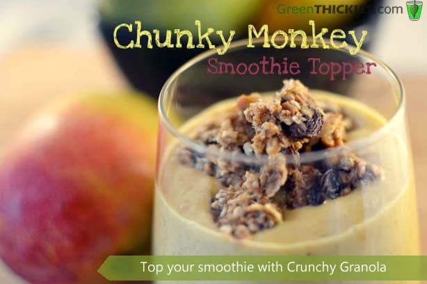 Chunky Monkey Smoothie Topper from Green Thickies