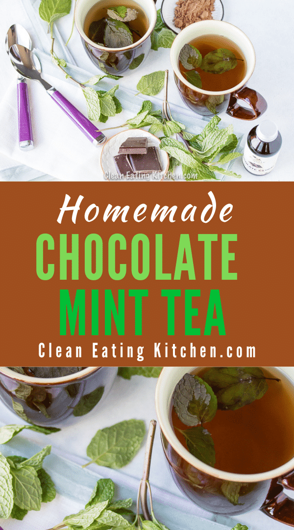 Homemade Chocolate Mint Tea Dairy Free