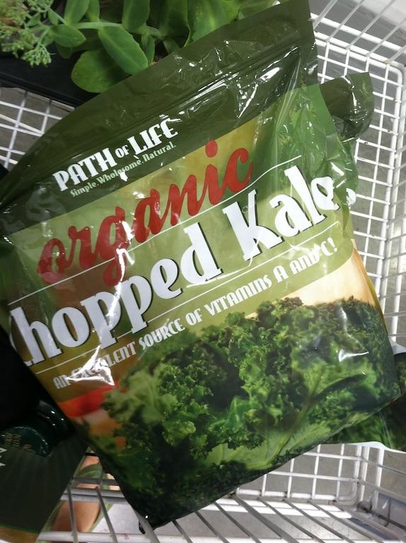Frozen organic chopped kale from Costco