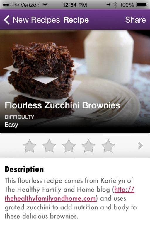 Flourless Zucchini Brownies from The Healthy Family and Home