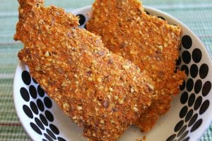Carrot Pulp Crackers (Vegan & Gluten-Free)