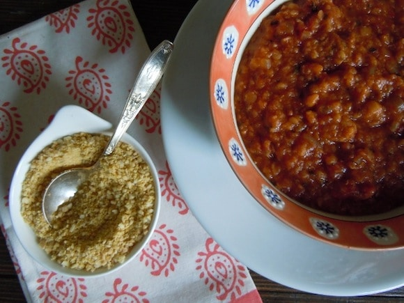 Red Lentil Chili from Nutmeg Notebook