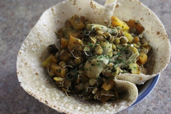 Warm Balsamic Sprouted Lentil Salad from Strength and Sunshine