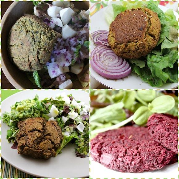 Burger assortment from Vegan Delish