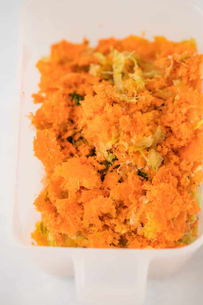 carrot pulp leftover from juicing