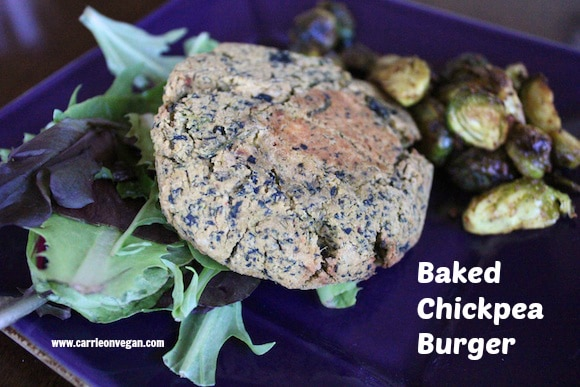 Baked Chickpea Burgers from Carrie on Vegan