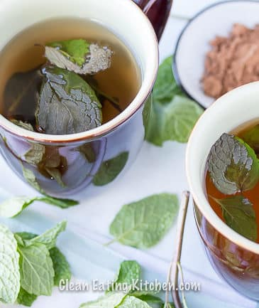 vegan chocolate mint tea