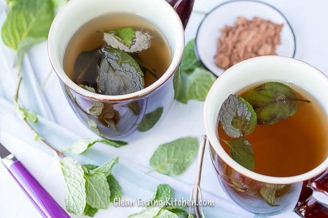 vegan chocolate mint tea