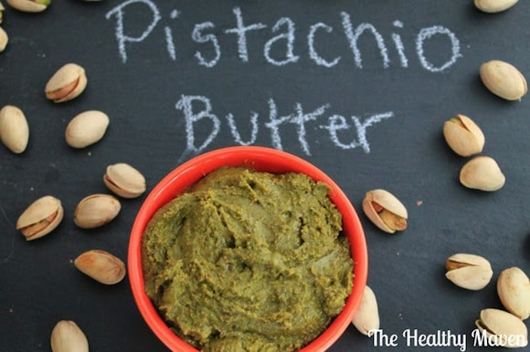 Homemade Pistachio Butter from The Healthy Maven