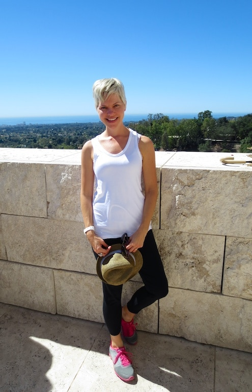 Carrie at the Getty Museum