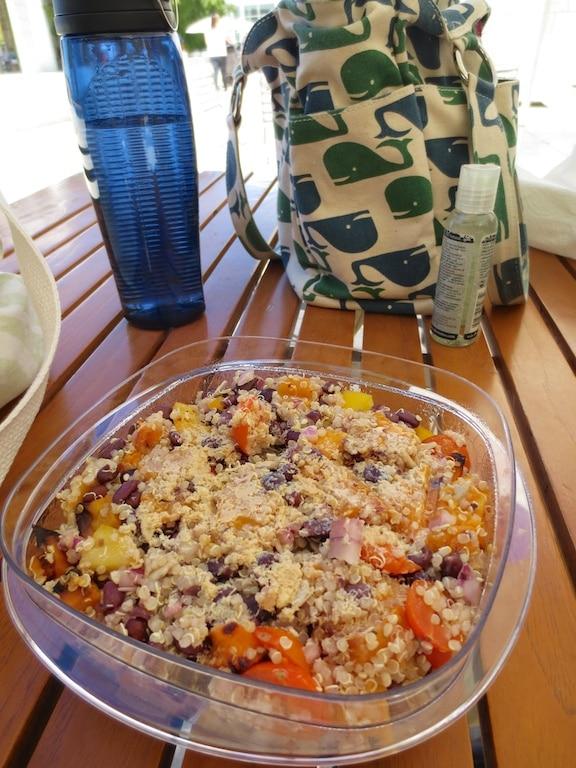 Vegetable Quinoa Salad on the road
