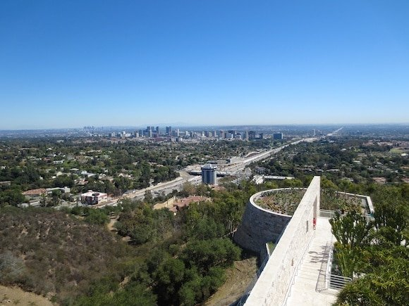 View from the Getty Museum to Los Angeles
