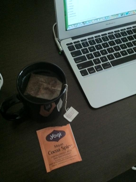 Tea while checking e-mails