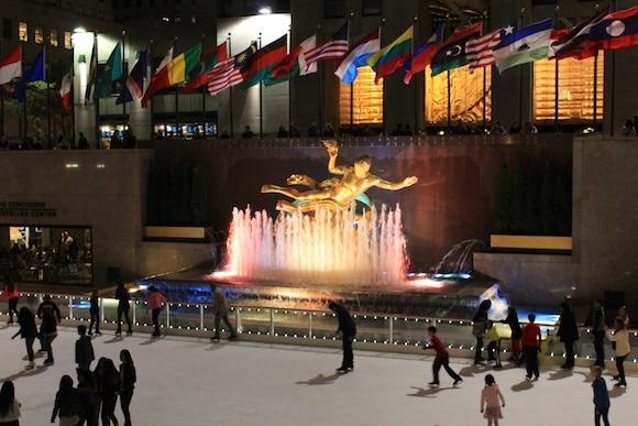 Rockefeller Plaza at night