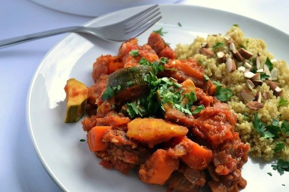 Red Lentil & Root Vegetable Tagine from Coconut and Berries