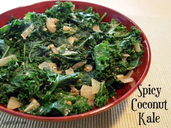 Spicy Coconut Kale from VeggieGirl