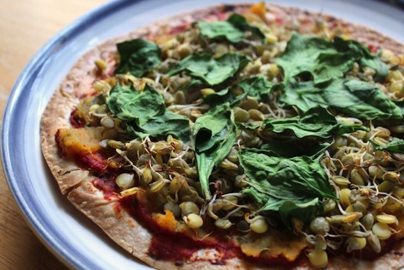 Sprouted Lentil and Butternut Squash Pizza from Strength and Sunshine