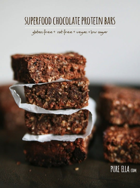 Superfood Chocolate Protein Bars from Pure Ella