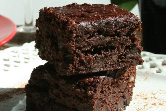 Vegan Brownies (Gluten-free, Oil-free) from Plantivores