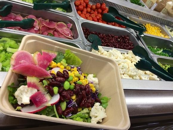 Fresh veggies at the salad bar