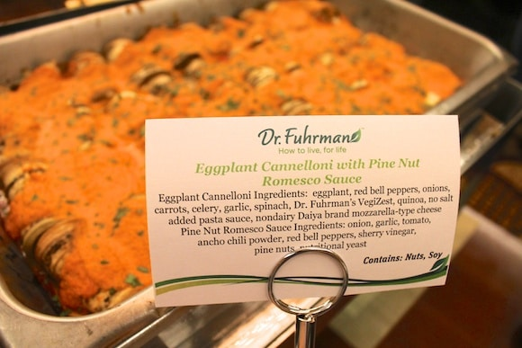 Eggplant Cannelloni at Dr. Fuhrman's Health Immersion