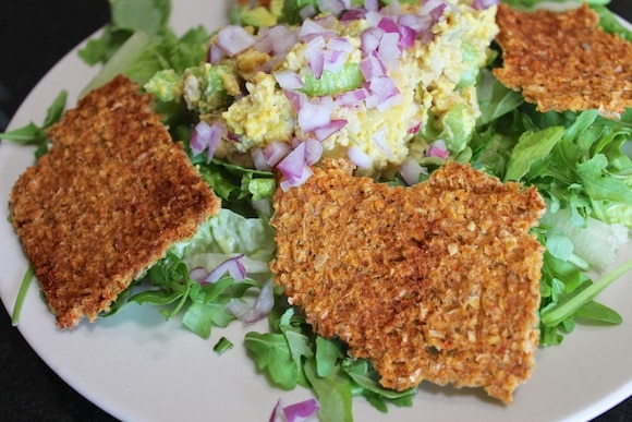 Corn crackers with Mock Tuna Salad