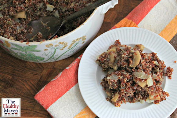 Mushroom Quinoa Casserole from The Healthy Maven