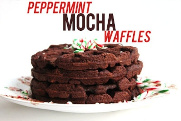Peppermint Mocha Waffles from The Healthy Maven