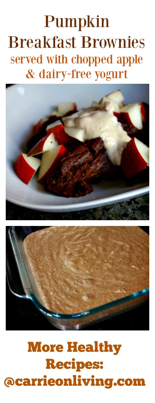 Pumpkin Breakfast Brownies for a gluten-free, healthy option.