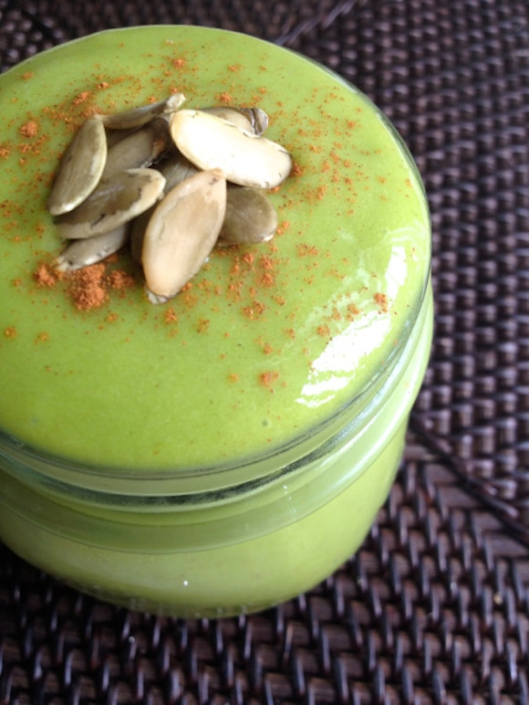 Pumpkin Spice and Everything Nice Green Smoothie from Made to Glow
