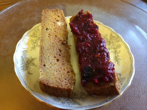Winter Squash Buckwheat Breakfast Loaf with Quick Cranberry Jam from Quick'n'Healthy