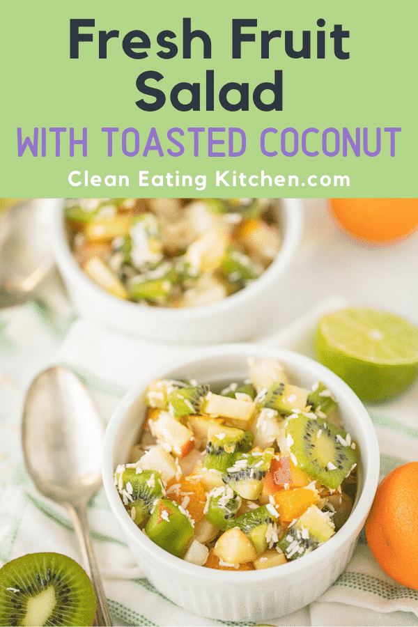 fresh fruit salad with toasted coconut