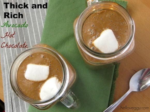 Avocado Hot Chocolate from Hello Veggy
