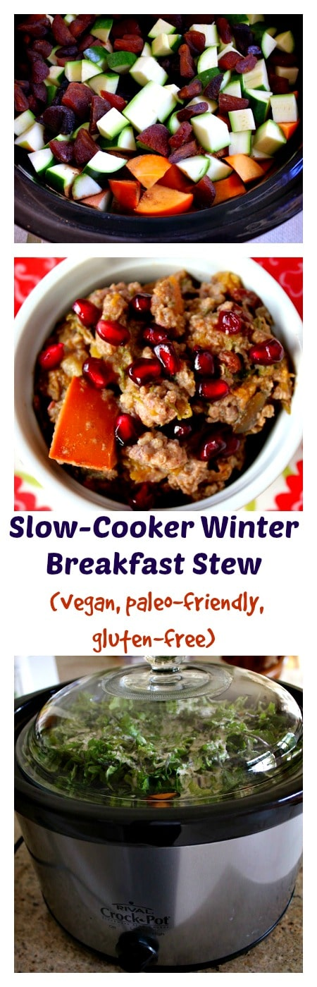 Winter Breakfast Stew made in the slow-cooker from Carrie on Living | www.cleaneatingkitchen.com