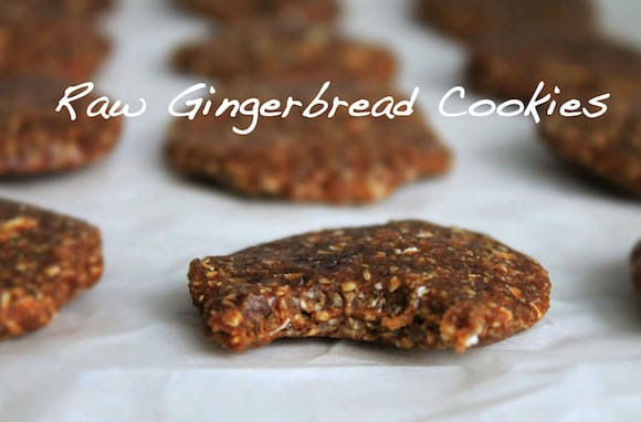 Raw Gingerbread Cookies from The Healthy Maven