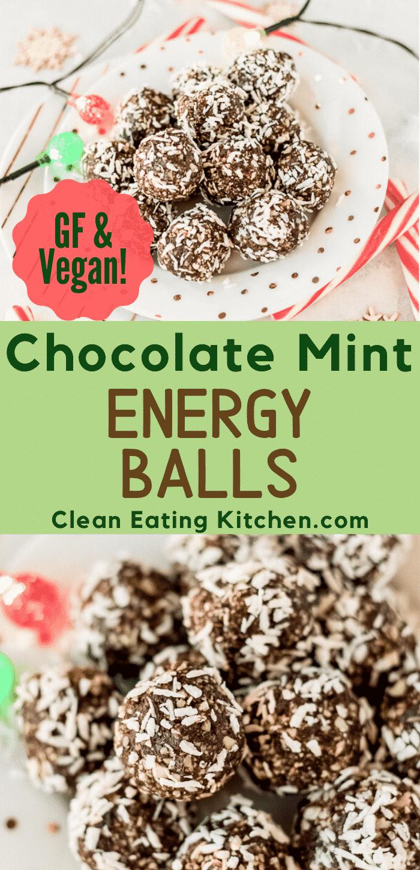 chocolate mint energy balls