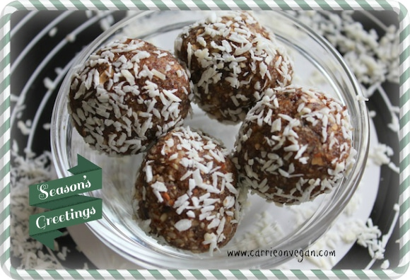 Raw Peppermint Bites from Carrie on Vegan | www.carrieonvegan.com