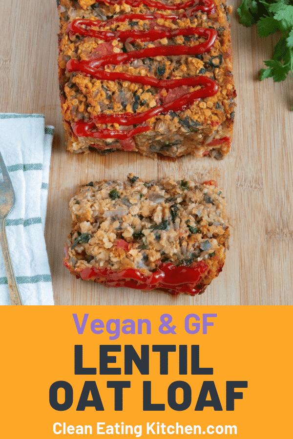 vegan lentil oat loaf