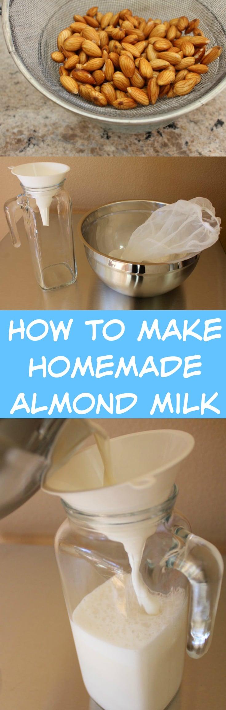 How to make homemade almond milk for a delicious, dairy-free milk alternative with a cost-saving tip!