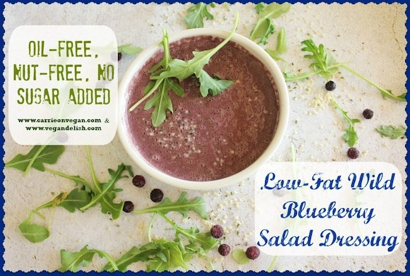 Wild Blueberry Salad Dressing from Carrie on Vegan | www.carrieonvegan.com